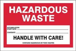 - Hazardous Waste Labels: Hazardous Waste