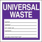 - Safety Label: Universal Waste