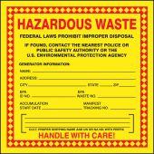 - Safety Labels: Hazardous Waste