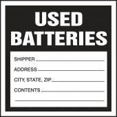 - Hazardous Waste Label: Used Batteries