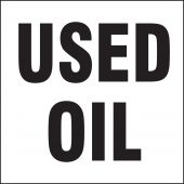 - Drum & Container Labels: Used Oil (Black On White)