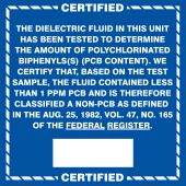 - Safety Label: Certified PCB Content