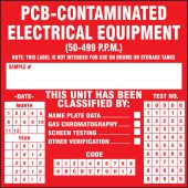 - PCB Labels: PCB-Contaminated Electrical Equipment