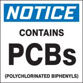 - OSHA Notice Safety Label: Contains PCBs