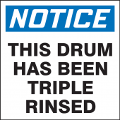 - OSHA Notice Drum & Container Labels: This Drum Has Been Triple Rinsed