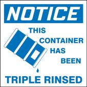 - OSHA Notice Drum & Container Labels: This Container Has Been Triple Rinsed
