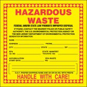 - Hazardous Waste Safety Label: California & New Jersey - Hazardous Waste