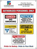 - Semi-Custom Field and Site Entrance Signs: Authorized Personnel Only