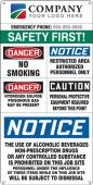 - Semi-Custom Field and Site Entrance Signs: Safety First