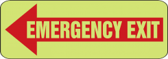 - Emergency Exit Safety Sign