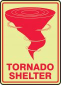- Glow-In-The-Dark Safety Sign: Tornado Shelter
