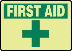 - FIRST AID SIGN - GLOW