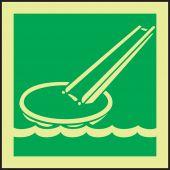 evacuation - Glow-In-The-Dark IMO Evacuation & First Aid Sign: Evacuation Slide