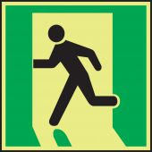 - IMO Evacuation & First Aid Sign: Exit Left