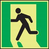 evacuation - IMO Evacuation & First Aid Sign: Exit Left