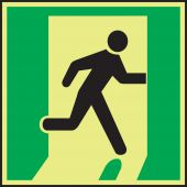 - IMO Evacuation & First Aid Sign: Exit Right