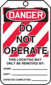 - OSHA Danger Lockout Safety Tags: Do Not Operate