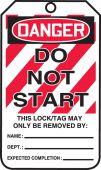 - OSHA Danger Lockout Tag: Do Not Start