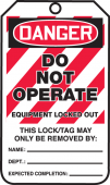 - OSHA Danger Safety Tags: Do Not Operate - Equipment Locked Out