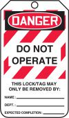 - OSHA Danger Lockout Tag: Do Not Operate