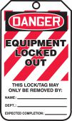- OSHA Danger Lockout Tag: Equipment Locked Out
