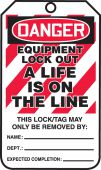 - OSHA Danger Lockout Tag: Equipment Lock Out - A Life Is On The Line
