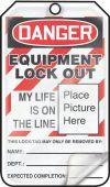 - OSHA Danger Self-Laminating Tag: Equipment Lock Out