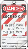 - OSHA Danger Self-Laminating Safety Tag: Locked Out