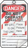 - OSHA Danger Self Laminating Safety Tag: Do Not Operate Locked Out