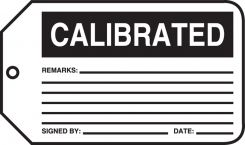 - Safety Tag: Calibrated