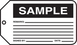 - Safety Tag: Sample
