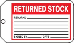 - Safety Tag: Returned Stock