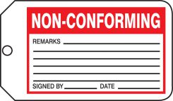 - Safety Tag: Non-Conforming