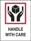 - International Shipping Label: Handle With Care