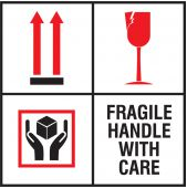 - International Shipping Label: Fragile Handle With Care