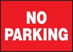 - Lite-Corr Plastic Sign: No Parking
