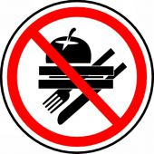 - CSA Pictogram Sign: No Food (Graphic)