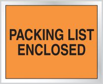 - Packing List Envelope: Packing List Enclosed