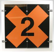 - Military Fire Division Flip Placard Signs