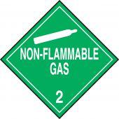 - DOT Placard: Hazard Class 2 - Gases (Non-Flammable Gas)