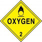 - DOT Placard: Hazard Class 2 - Gases (Oxygen)