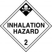 - DOT Placard: Hazard Class 2 - Inhalation Hazard