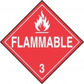 - DOT Placard: Hazard Class 3 - Flammable Liquids (Flammable)