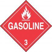 - DOT Placard: Hazard Class 3 - Gasoline