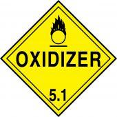 - DOT Placard: Hazard Class 5 - Oxidizer