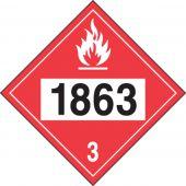 - 4-Digit DOT Placards: Hazard Class 3 - 1863 (Fuel, Aviation)