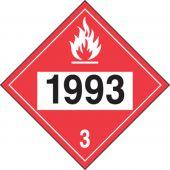 - 4-Digit DOT Placards: Hazard Class 3 - 1993 (Flammable Liquid)