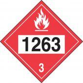 - 4-Digit DOT Placards: Hazard Class 3 - 1263 (Paint)