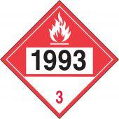 - 4-Digit DOT Placards: Hazard Class 3 - 1993 (Combustible Liquid)