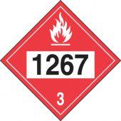 - 4-Digit DOT Placards: Hazard Class 3 - 1267 (Crude Oil)